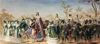 beauty pageant   na seymour duchess of somerset was crowned the queen of beauty at the eglinton tour nt of 1839 the first known beauty pageant