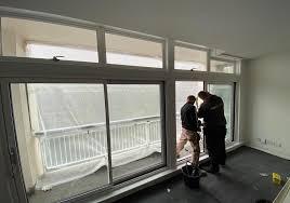 installing sliding patios in blocks of