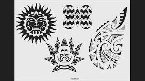 Maori Polynesian Hawaiian Tribal Style Tattoo Designs