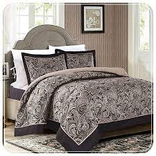 bedding sets paisley bedspread cream black bedding