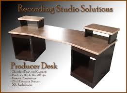 recording studio desk chocolate pearwood finish w maple edge