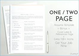 Best One Page Resume Template Best E Page Resume Template Images On