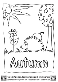Small Picture Fall Coloring Pages Kindergarten Coloring Pages