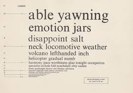 Archive Logmar Word Reading Chart Optometry Museum Archive