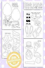 Easter Activity Pages Egg Coloring Pages Printable Craft For Kids
