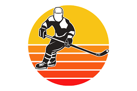 The best selection of royalty free hockey player silhouette vector art, graphics and stock illustrations. Hockey Player Retro Vintage Sunset Graphic By Sunandmoon Creative Fabrica