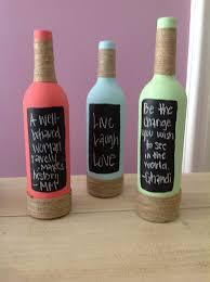 Decorative Wine Bottles Ideas 100 Easy DIY Pinterest Crafts Pinterest craft Painted wine 72