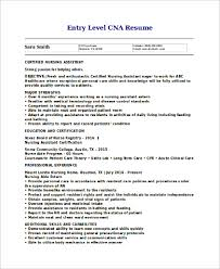 Cna Resume Unique 28 CNA Resume Samples Sample Templates