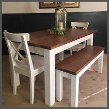 5ft new handmade pine plank farmhouse table benches and chairs
