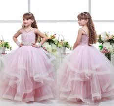 Großhandel 2017 Rosa Ballkleid Girls Pageant Kleider Für Teens ...