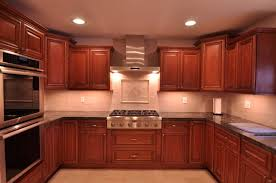 Kitchen : Impressive Kitchen Backsplash Cherry Cabinets Subway ...