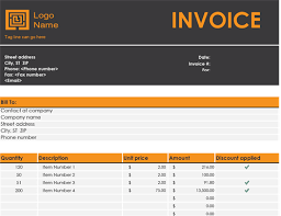 Free Excel Invoice Invoices Office Com