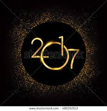 2017 background. Brilliant 2017 Happy New Year 2017 With Glitter Isolated On Black Background Text Design  Gold Colored Inside Background I