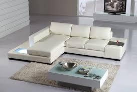 Modern leather sectional sofas Extra Large La Furniture Store T35 Mini Modern Leather Sectional Sofa