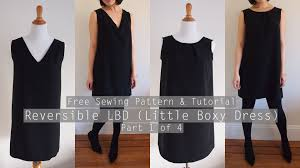 How To Make A Dress Pattern New How To Make A Reversible Shift Dress Free Sewing Pattern PART 48