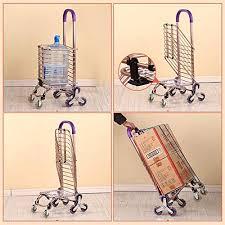 Climbing <b>Stair Trolley</b> 8 Wheel Cart <b>Folding</b> Shopping Cart <b>Trolley</b> ...
