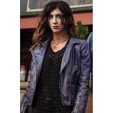 kelly maxwell ash vs evil dead purple leather jacket