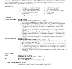 Sample Social Worker Resume Download Sample Social Work Resume