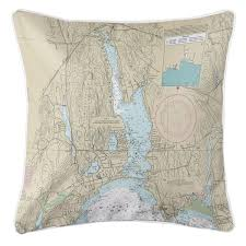 Tide Chart For Niantic Ct Ct Niantic Ct Nautical Chart Lumbar Pillow Nautical