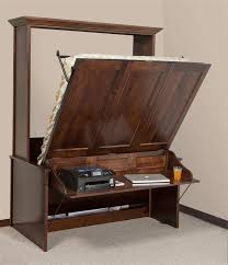 murphy bed office desk. Amish Vertical Wall Murphy Bed With Desk | Beds Bedroom Furniture 44900 Office S