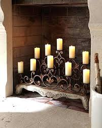 fireplace candle holder insert candle rack for fireplace fireplace candelabra