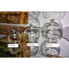set of 36 hanging bubble light candle holder 4 diameters with a silver sting terrarium