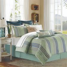 fresh teal blue and green soho striped duvet quilt cover bedding