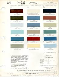 2013 Ford Color Chart Paint Chips 1969 Ford Falcon