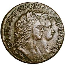 Ireland. William & Mary. Halfpenny. 1693. Good Very Fine.. 6429.