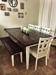 farmhouse high top table version of bench idea white paint bear marquee sanded down table legs