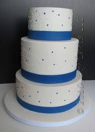 simple blue wedding cake. Perfect Wedding Simple Wedding Cakes  Simple Blue Wedding Cakes On News From Jacy Cakes  Swirly Dot  In Blue Cake