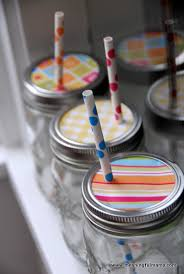 Decorative Mason Jar Lids Mason Jar Lids with Cute Straws 13
