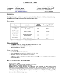 Official Resume Format Inspiration Classy Official Resume Format India On 48 [ Good Resume Sample