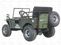 s jeep 125cc go kart 125cc 3 sd army green