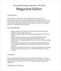 magazine editor job description copywriter job description