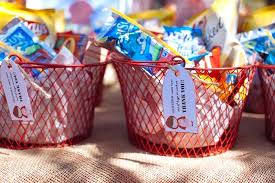 favor baskets from a little red riding hood picnic party via kara s party ideas karaspartyideas