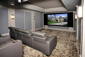 media room furniture ideas. Side View Of Incredible Modern Home Theater With Stadium Seating.Listed By: DouglasElliman Real Estate Source: Zillow Digs Media Room Furniture Ideas