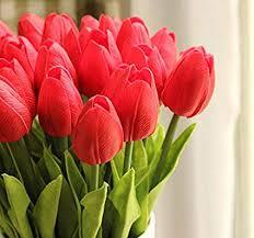 <b>10PCS</b>/<b>LOT</b> high quality PU Stunning Holland mini tulip <b>flower</b> real ...