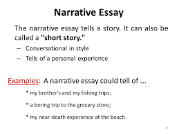 lecture course review language skills listening reading the narrative essay tells a story