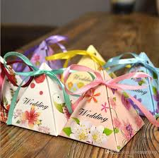 Party Decorations In A Box 60 New Baby Shower Triangle Candy Box Gift Sweets Box Party Show 2