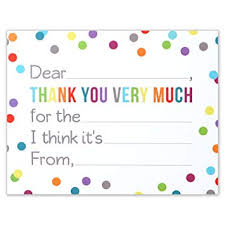Blank Thank You Notes Fill In The Blank Thank You Notes For Kids Confetti Polka Dot Flat Card And Envelopes 4 25 X 5 5 Inches Pack Of 15