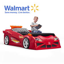 Step2 Hot Wheels Toddler-to-Twin Race Car Bed-Red