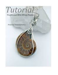 tutorial wire wrapping 101 cabochon pendant diy pdf pattern by perfectly twisted jewelry