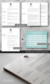 Professional Resume Template Set Spick And Span Freesumes