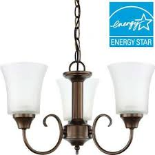 holman 3 light bell metal bronze chandelier