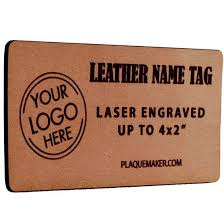 leather name tags up to 4