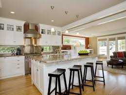 kitchen island ideas. White Kitchen Island Ideas For Large Completed With Granite Top And Black Seating