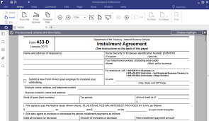 irs gov form 433d irs form 433 d fill out with pdfelement wondershare pdfelement
