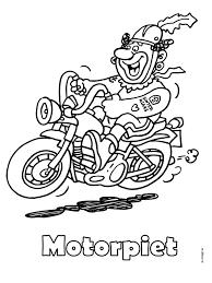 Kleurplaat Motor Piet Zwarte Piet Kleurplatennl