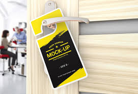 Door Hanger Design Template Extraordinary 44 Best Door Hanger PSD Mockup Templates DecoloreNet